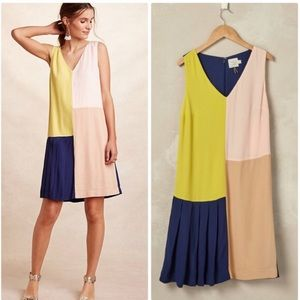 Anthro HD in Paris Vieques Shift Colorblock Dress